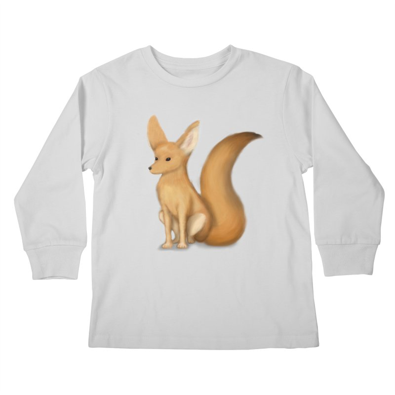 Furry Fox Kids Longsleeve T-Shirt by stephanie's Artist Shop