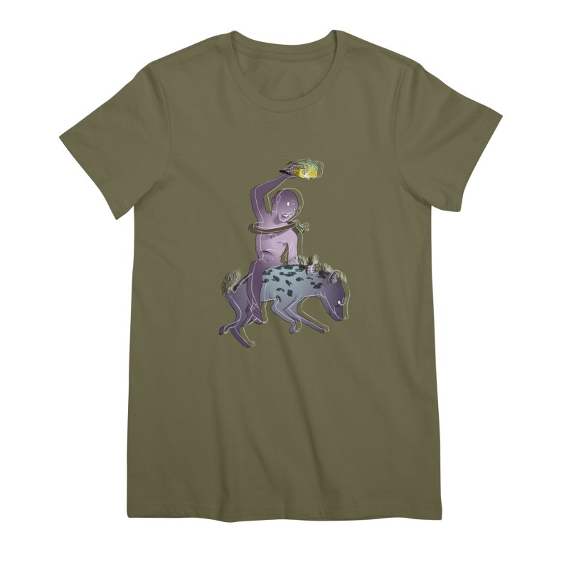 In the Dark of the Night Women's Premium T-Shirt by Stephanie Gobby's Artist Shop