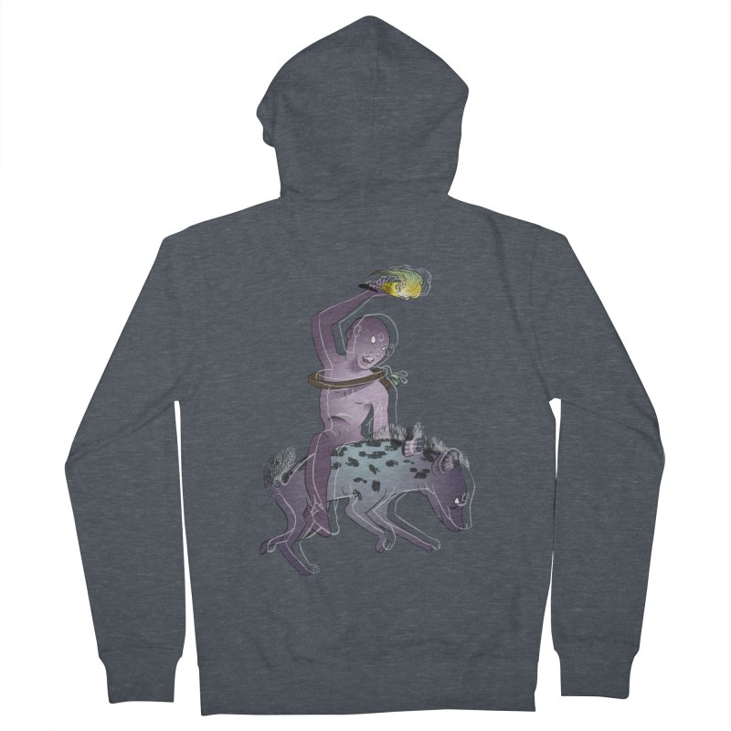 In the Dark of the Night Men's French Terry Zip-Up Hoody by Stephanie Gobby's Artist Shop