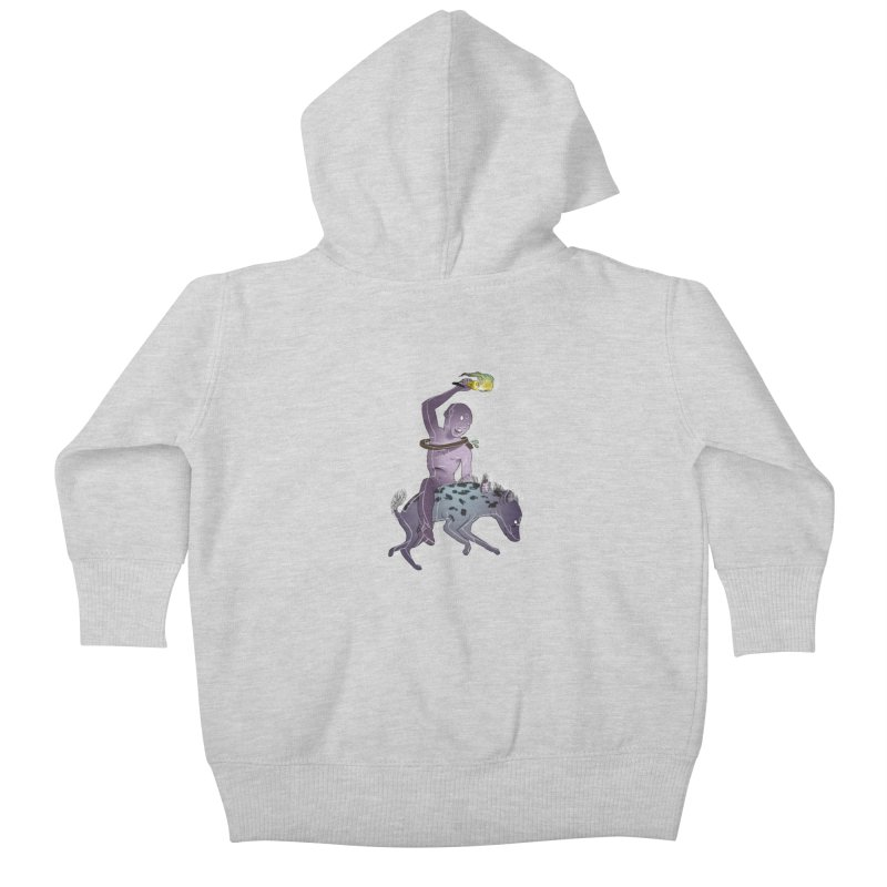 In the Dark of the Night Kids Baby Zip-Up Hoody by Stephanie Gobby's Artist Shop
