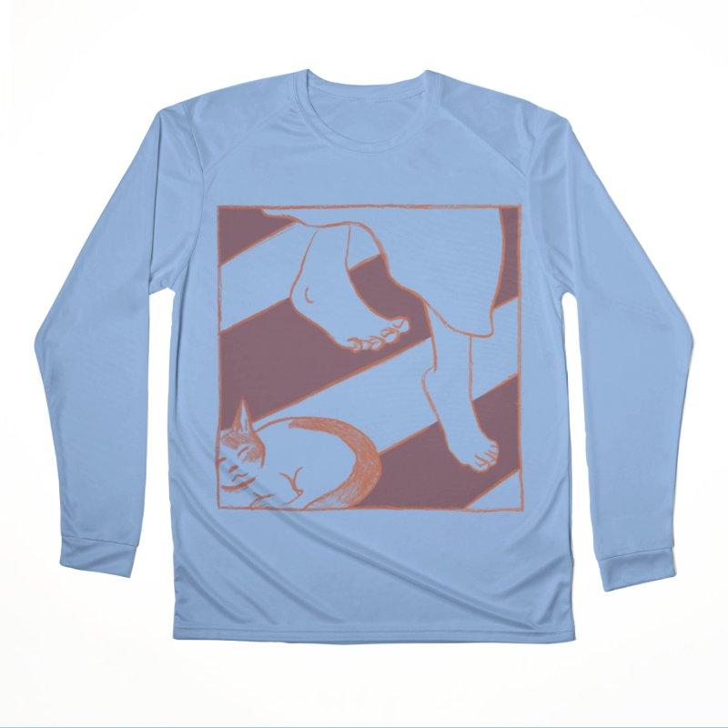 Sleepy Kitty Men's Longsleeve T-Shirt by Stephanie Gobby's Artist Shop