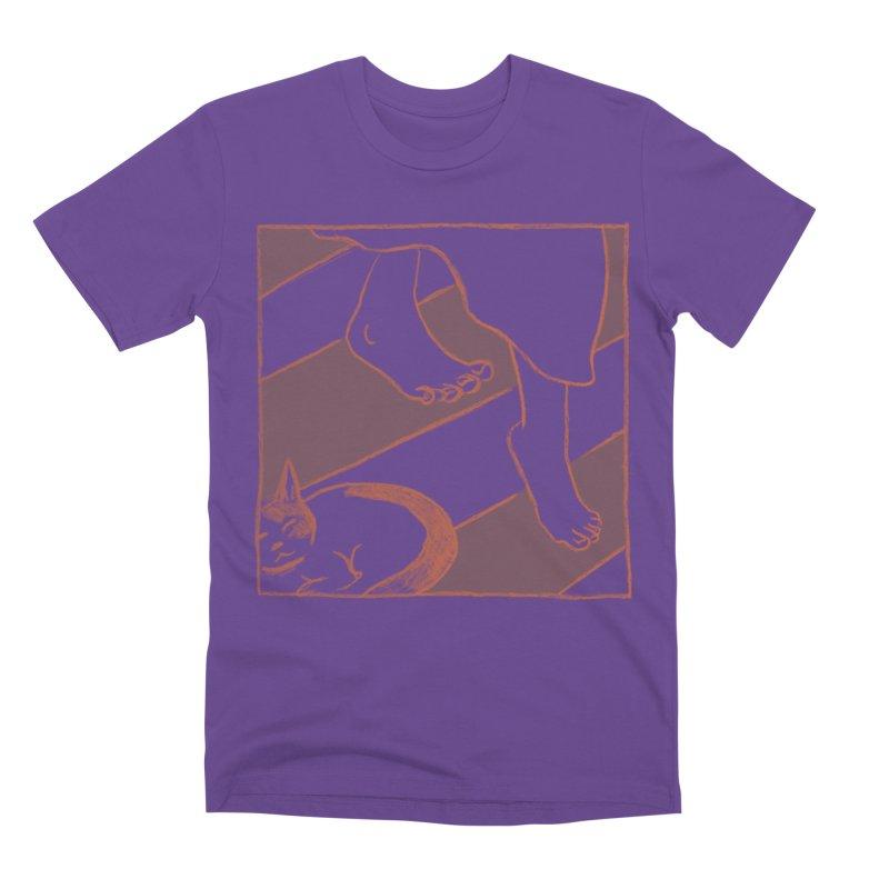 Sleepy Kitty Men's Premium T-Shirt by Stephanie Gobby's Artist Shop