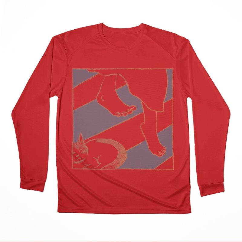 Sleepy Kitty Women's Performance Unisex Longsleeve T-Shirt by Stephanie Gobby's Artist Shop