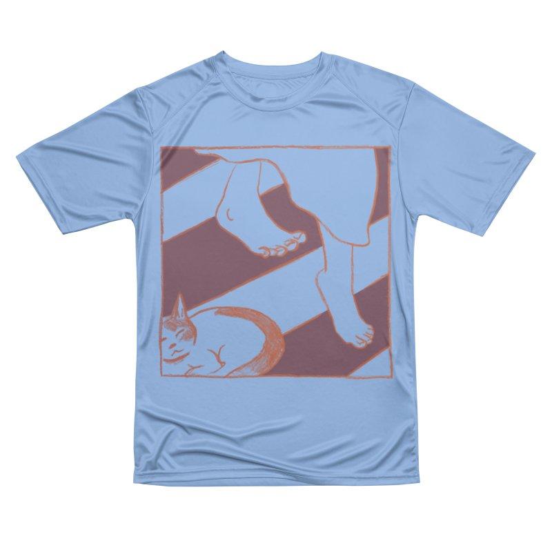 Sleepy Kitty Men's T-Shirt by Stephanie Gobby's Artist Shop