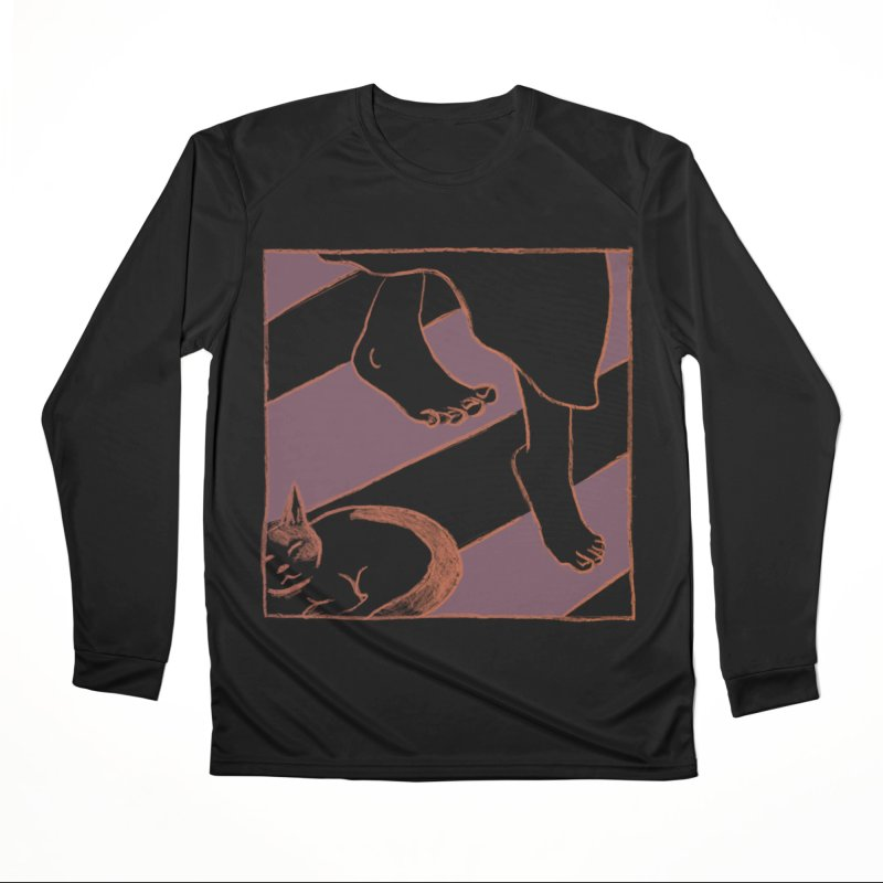 Sleepy Kitty Men's Performance Longsleeve T-Shirt by Stephanie Gobby's Artist Shop