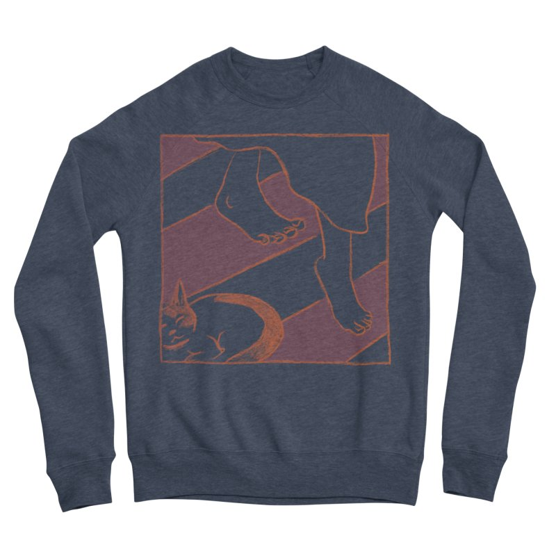 Sleepy Kitty Men's Sponge Fleece Sweatshirt by Stephanie Gobby's Artist Shop