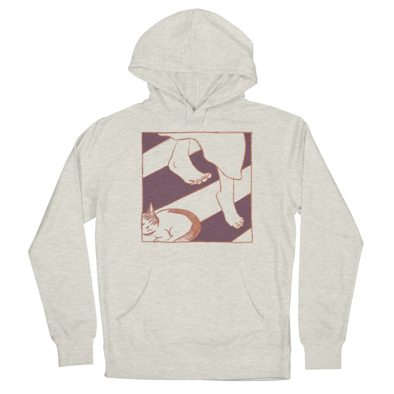 Sleepy Kitty Men's French Terry Pullover Hoody by Stephanie Gobby's Artist Shop