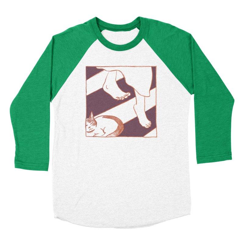 Sleepy Kitty Men's Baseball Triblend Longsleeve T-Shirt by Stephanie Gobby's Artist Shop