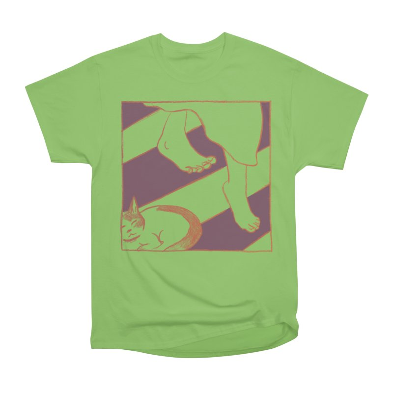 Sleepy Kitty Men's Heavyweight T-Shirt by Stephanie Gobby's Artist Shop
