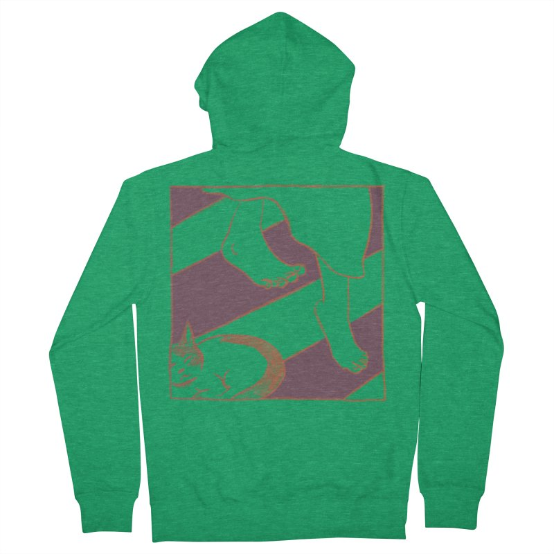 Sleepy Kitty Women's Zip-Up Hoody by Stephanie Gobby's Artist Shop