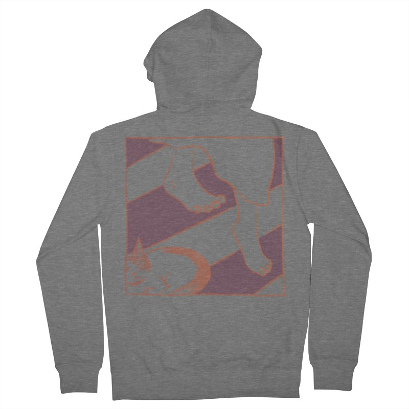 Sleepy Kitty Men's French Terry Zip-Up Hoody by Stephanie Gobby's Artist Shop