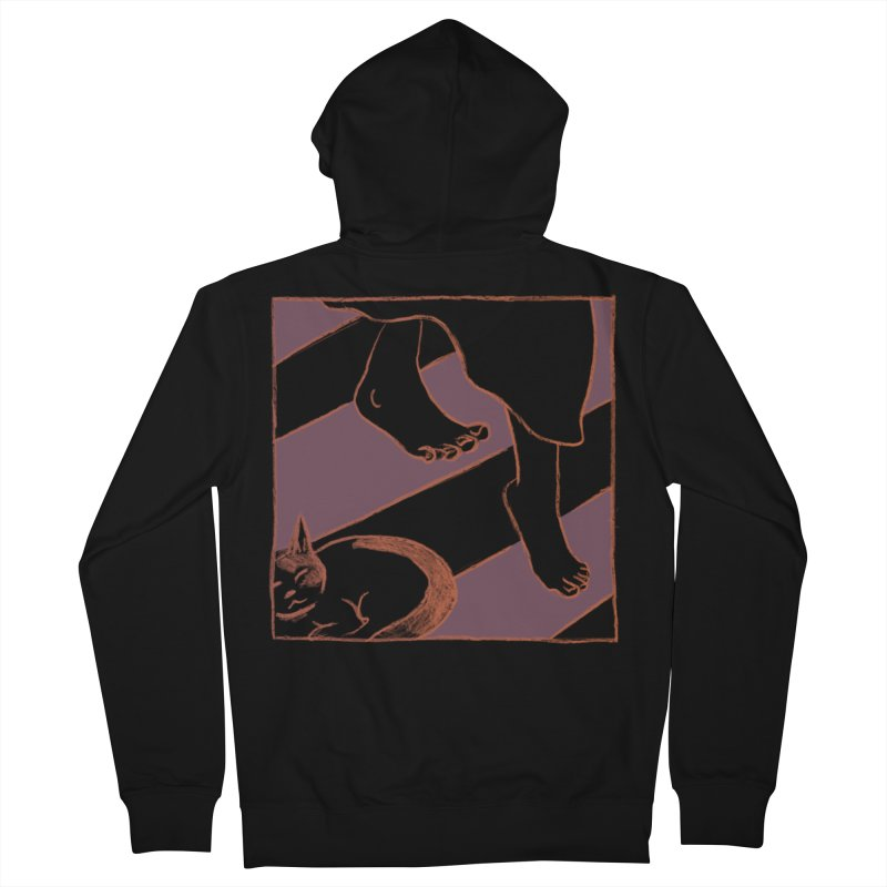 Sleepy Kitty Men's Zip-Up Hoody by Stephanie Gobby's Artist Shop
