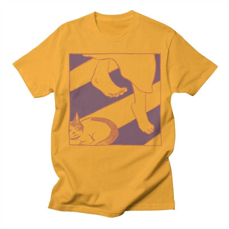 Sleepy Kitty Men's T-Shirt by Stephanie Gobby's Artist Shop