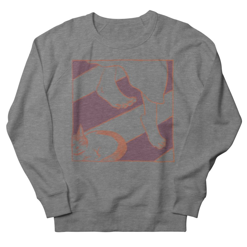 Sleepy Kitty Women's French Terry Sweatshirt by Stephanie Gobby's Artist Shop