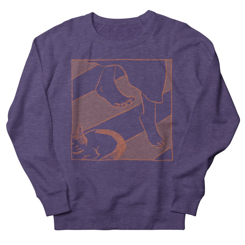 Sleepy Kitty Men's French Terry Sweatshirt by Stephanie Gobby's Artist Shop