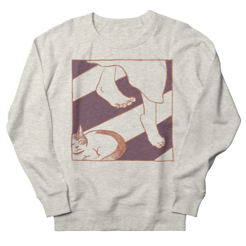 Sleepy Kitty Men's Sweatshirt by Stephanie Gobby's Artist Shop