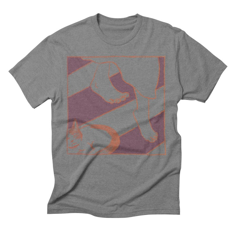 Sleepy Kitty Men's Triblend T-Shirt by Stephanie Gobby's Artist Shop