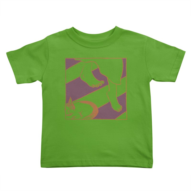 Sleepy Kitty Kids Toddler T-Shirt by Stephanie Gobby's Artist Shop