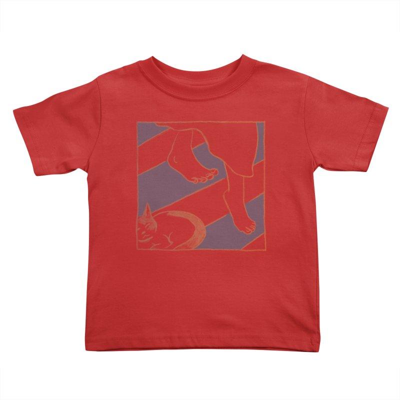 Sleepy Kitty Kids Toddler T-Shirt by Stephanie Gobby's Artist Shop