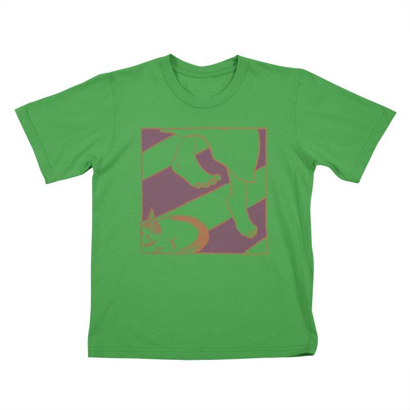 Sleepy Kitty Kids T-Shirt by Stephanie Gobby's Artist Shop