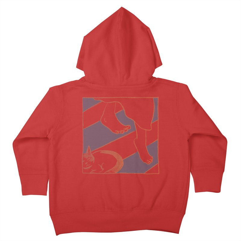 Sleepy Kitty Kids Toddler Zip-Up Hoody by Stephanie Gobby's Artist Shop
