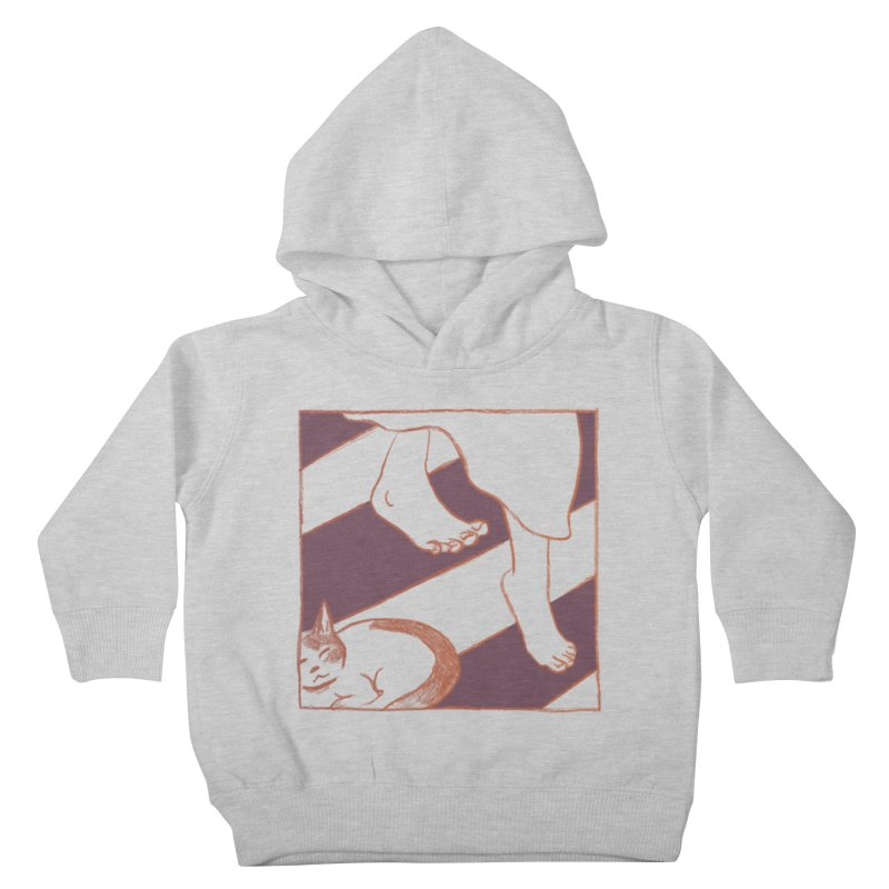 Sleepy Kitty Kids Toddler Pullover Hoody by Stephanie Gobby's Artist Shop