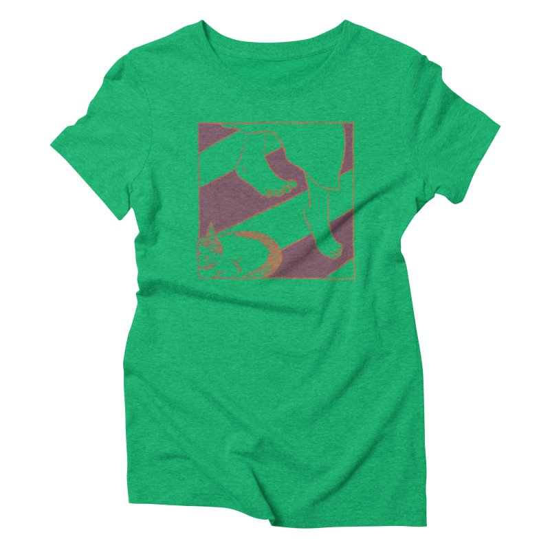 Sleepy Kitty Women's Triblend T-Shirt by Stephanie Gobby's Artist Shop
