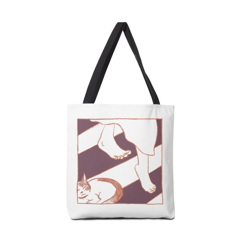 Sleepy Kitty Accessories Bag by Stephanie Gobby's Artist Shop