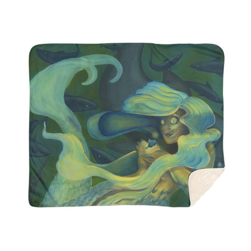 Deep Sea Friends Home Sherpa Blanket Blanket by Stephanie Gobby's Artist Shop