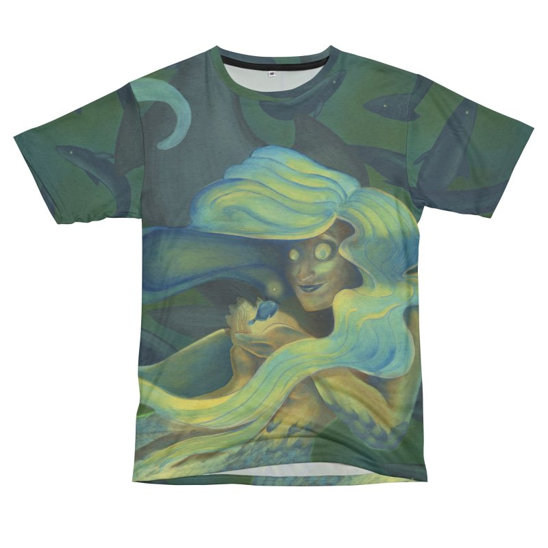 Deep Sea Friends Men's French Terry T-Shirt Cut & Sew by Stephanie Gobby's Artist Shop