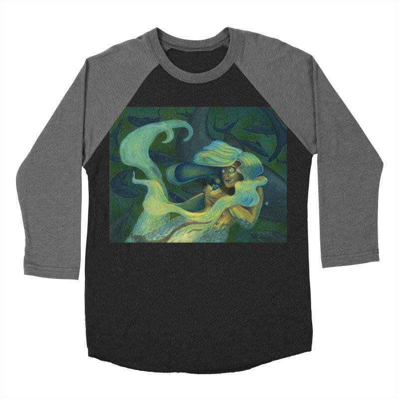 Deep Sea Friends Men's Baseball Triblend Longsleeve T-Shirt by Stephanie Gobby's Artist Shop