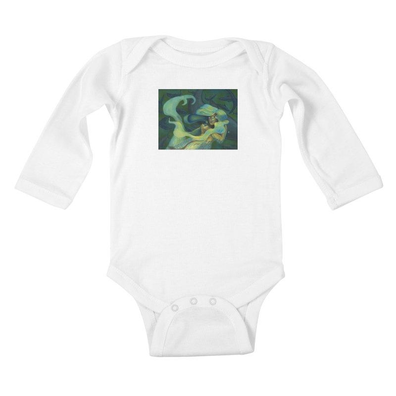Deep Sea Friends Kids Baby Longsleeve Bodysuit by Stephanie Gobby's Artist Shop