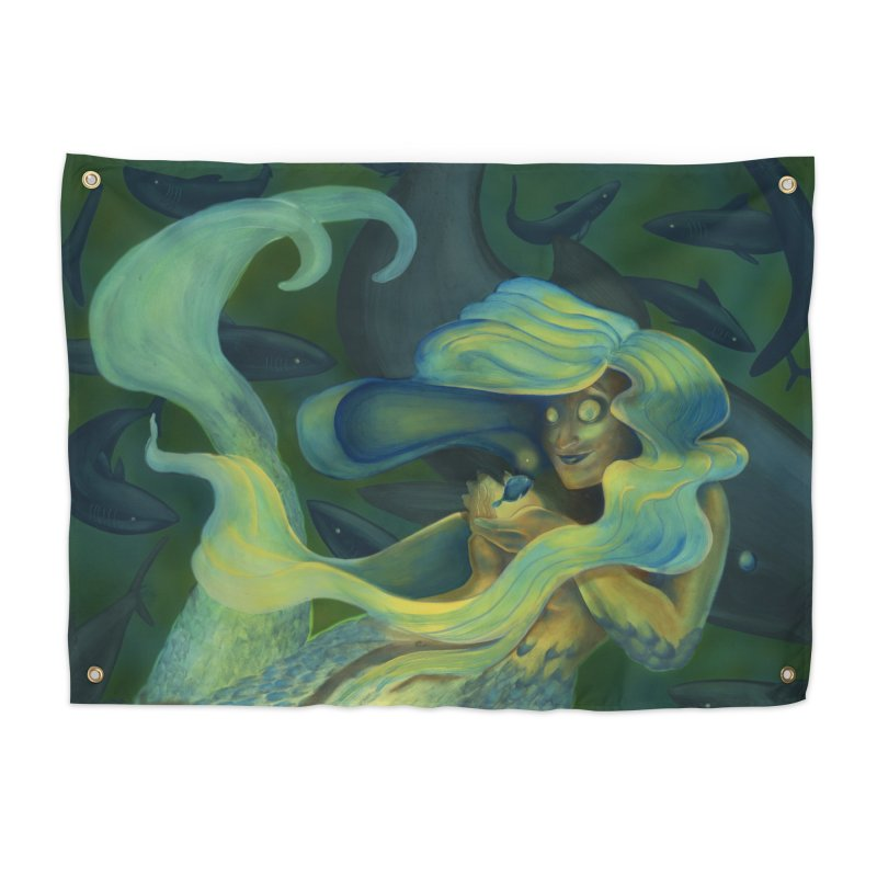 Deep Sea Friends Home Tapestry by Stephanie Gobby's Artist Shop
