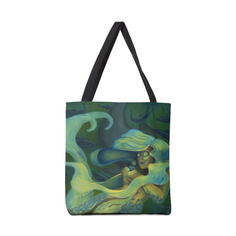 Deep Sea Friends Accessories Tote Bag Bag by Stephanie Gobby's Artist Shop