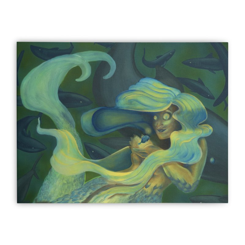 Deep Sea Friends Home Stretched Canvas by Stephanie Gobby's Artist Shop