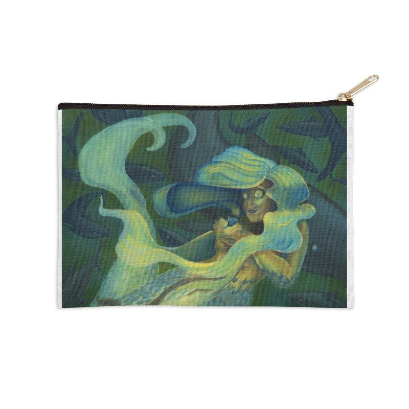 Deep Sea Friends Accessories Zip Pouch by Stephanie Gobby's Artist Shop