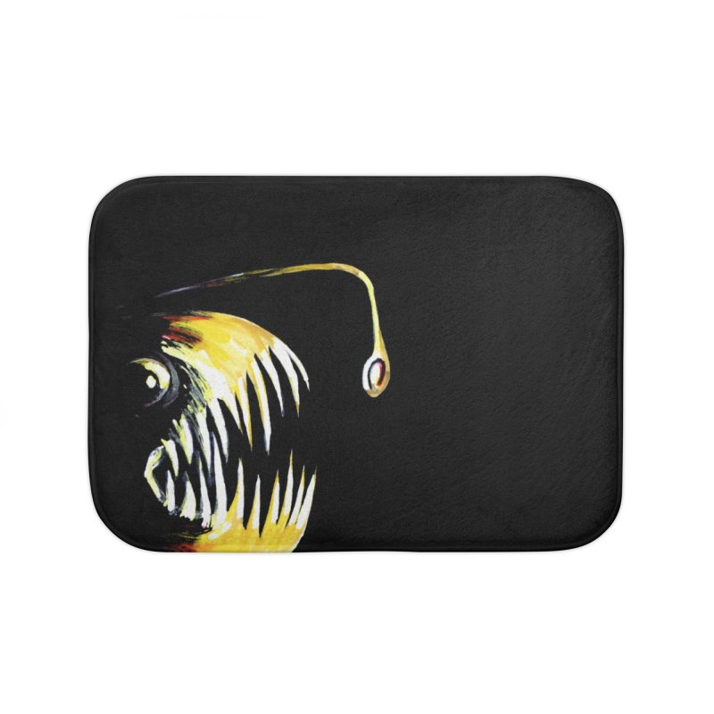Angler fish! Home Bath Mat by Stephanie Gobby's Artist Shop