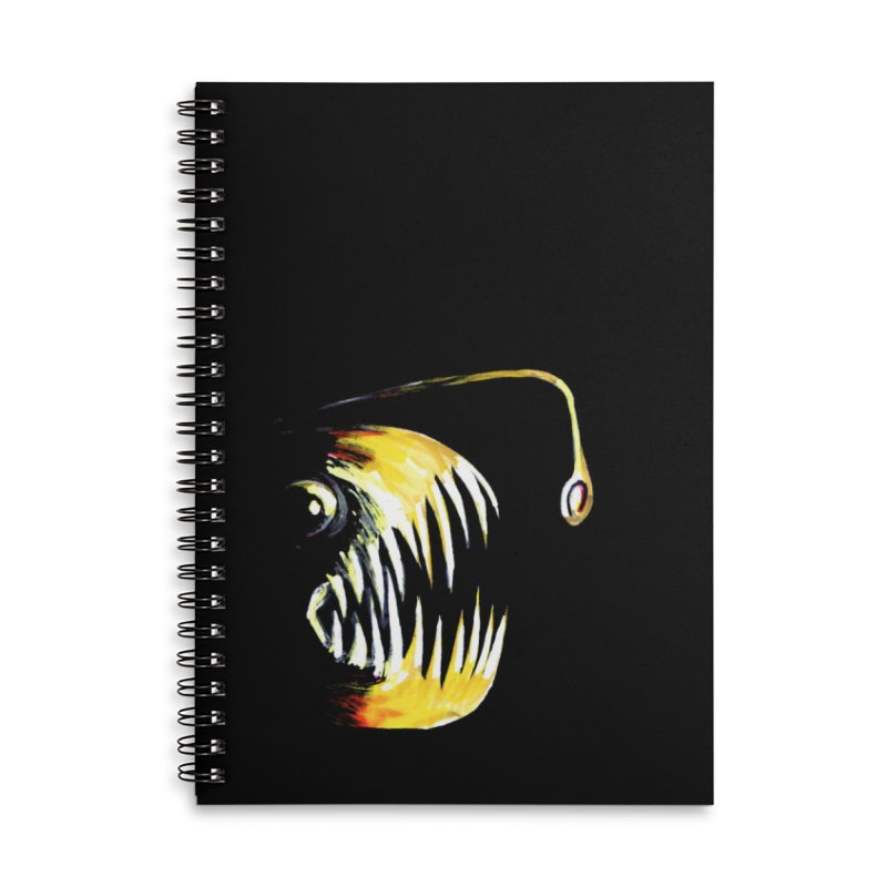 Angler fish! Accessories Lined Spiral Notebook by Stephanie Gobby's Artist Shop