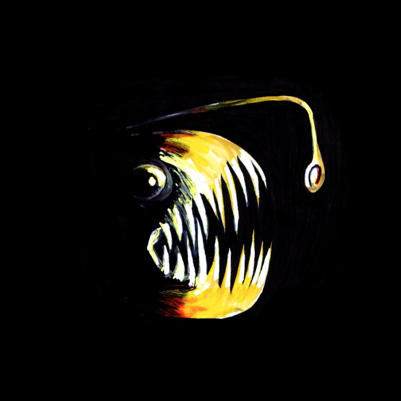 Angler fish! Home Mounted Acrylic Print by Stephanie Gobby's Artist Shop