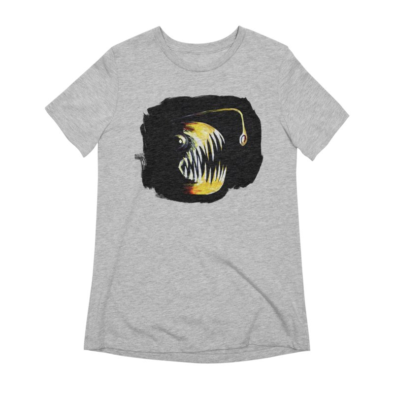 Angler fish! Women's Extra Soft T-Shirt by Stephanie Gobby's Artist Shop