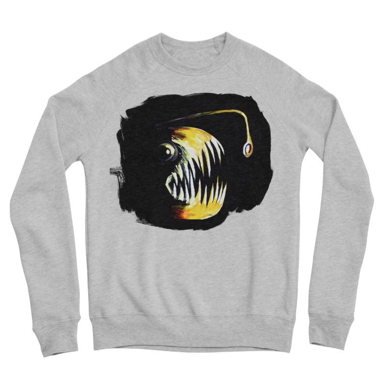 Angler fish! Men's Sponge Fleece Sweatshirt by Stephanie Gobby's Artist Shop