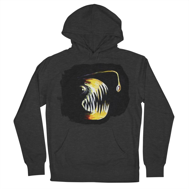 Angler fish! Women's French Terry Pullover Hoody by Stephanie Gobby's Artist Shop