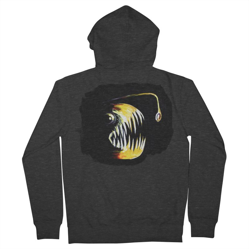 Angler fish! Women's French Terry Zip-Up Hoody by Stephanie Gobby's Artist Shop