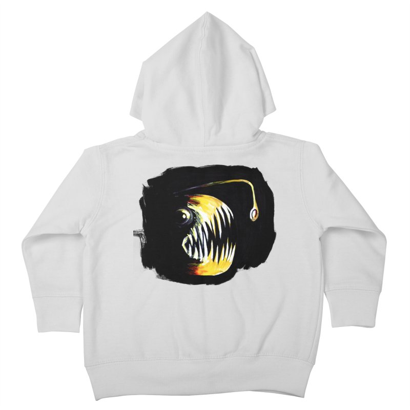 Angler fish! Kids Toddler Zip-Up Hoody by Stephanie Gobby's Artist Shop