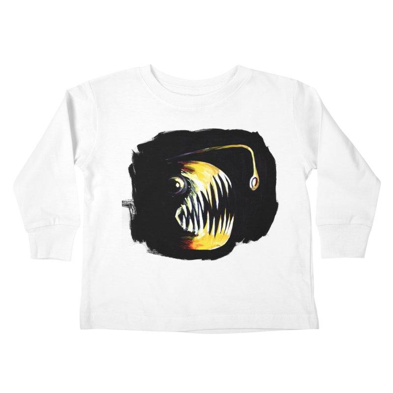 Angler fish! Kids Toddler Longsleeve T-Shirt by Stephanie Gobby's Artist Shop