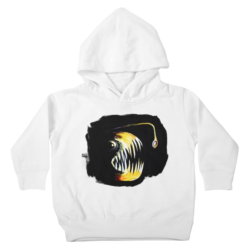 Angler fish! Kids Toddler Pullover Hoody by Stephanie Gobby's Artist Shop