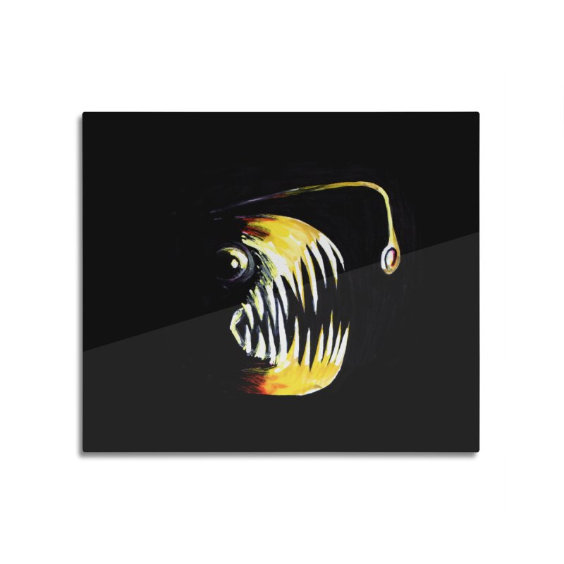 Angler fish! Home Mounted Aluminum Print by Stephanie Gobby's Artist Shop
