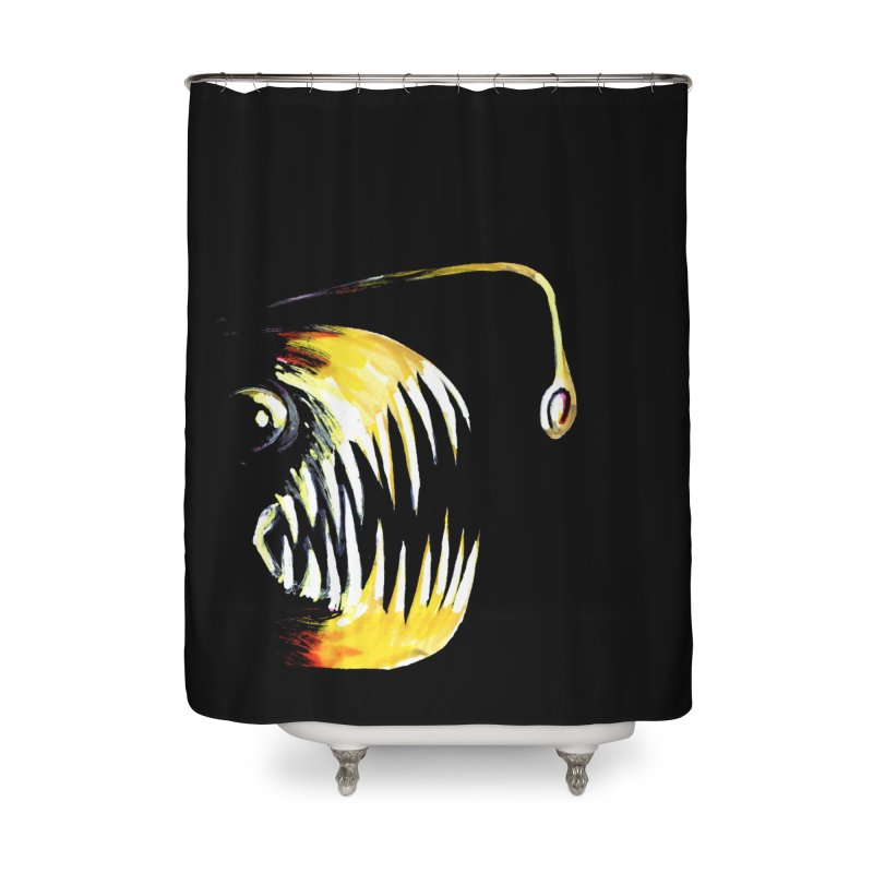 Angler fish! Home Shower Curtain by Stephanie Gobby's Artist Shop