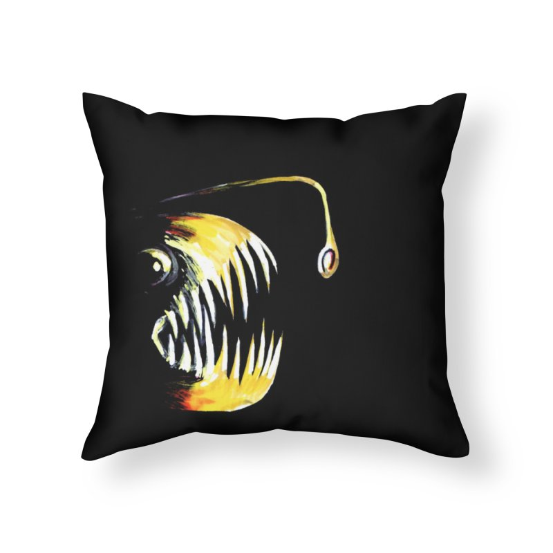 Angler fish! Home Throw Pillow by Stephanie Gobby's Artist Shop