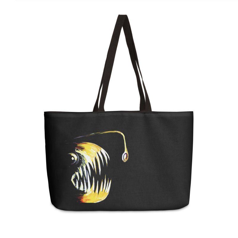 Angler fish! Accessories Weekender Bag Bag by Stephanie Gobby's Artist Shop